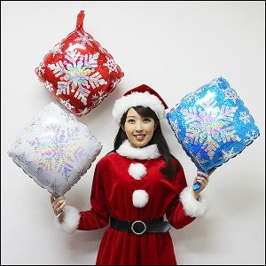 クリスマス装飾風船 スノーフレーク/ 動画有/バルーン 飾り デコレーション/メール便可|event-ya