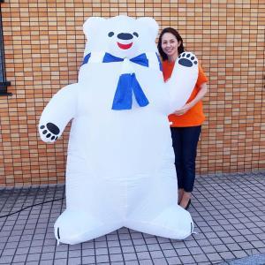エアディスプレイ シロクマ君 高さ120cm/動画有|event-ya