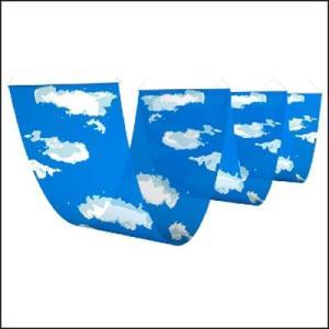 青空装飾 三連ペナント空と雲 W60cm×L180cm×3|event-ya