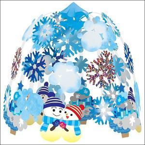 ウインター装飾 雪だるまスノー2段センター W60cm / 冬 雪 ディスプレイ 飾り|event-ya