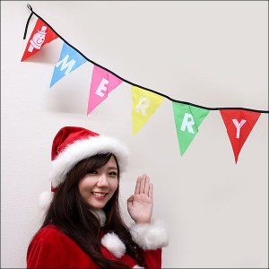 Xmas フラッグバナー 【クリスマス・装飾・ディスプレイ・飾り】|event-ya