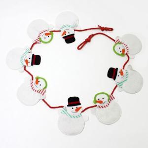 Xmas ガーランド スノーマンフェルトガーランド 145cm 【クリスマス・装飾・ディスプレイ・飾り】|event-ya