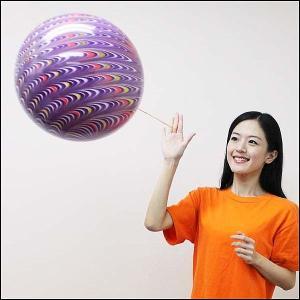 40cmゴム製パンチボール 孔雀柄 (50個) ゴム付 [動画有り]|event-ya