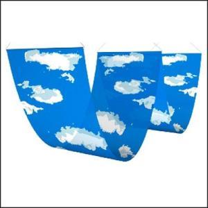 青空装飾 二連ペナント 空と雲 W60cm×L180cm×2|event-ya