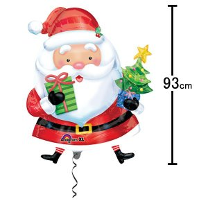 クリスマス装飾風船 サンタ with ツリー H93cm/バルーン 飾り デコレーション/メール便可|event-ya