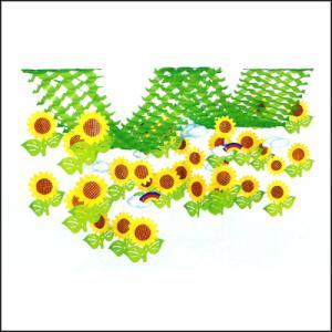 夏装飾 ひまわり2連プリーツハンガー L200cm / 向日葵 ヒマワリ 飾り ディスプレイ|event-ya