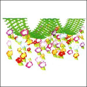 夏装飾  ハイビスカス2連ハンガー L200cm[花・夏・ディスプレイ・装飾・飾り付け] event-ya