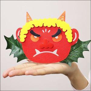 【在庫限り!特価品】[¥800⇒¥500]節分装飾 赤鬼スタンド H10cm|event-ya