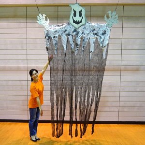 【特価品】2,500⇒1,800円 ハロウィン ビッグサイズゴーストカーテン H350cm|event-ya