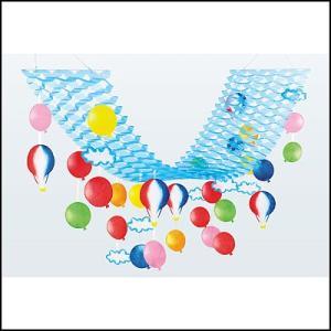 夏のマリンブルー装飾 バルーンプリーツハンガー 【夏・海・ディスプレイ・装飾・飾り】|event-ya
