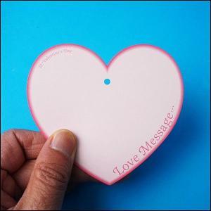 バレンタイン願い事カード(200枚) カードのみ、こよりなし|event-ya