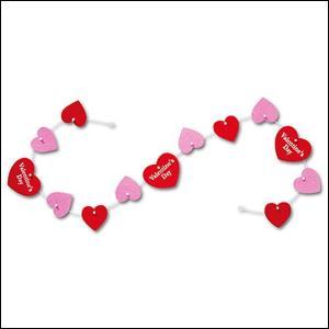 バレンタイン装飾 フェルトハートバナー L120cm/メール便3セットまで可/ / 動画有|event-ya