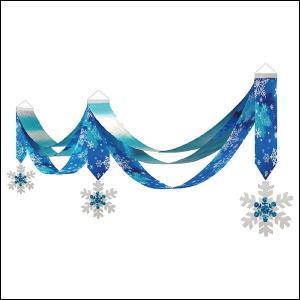 ウィンター装飾 スノーベーシックペナント L180cm / 冬 雪 ディスプレイ 飾り|event-ya