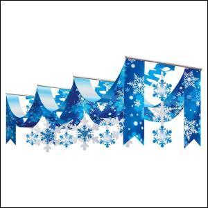 ウィンター装飾 スノーDXペナントハンガー L180cm / 冬 雪 ディスプレイ 飾り|event-ya