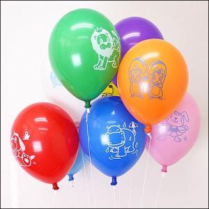 天然ゴム風船 まんが柄ヘリウムガス用(100ヶ) ワンタッチバルブ、糸付/ バルーン  [動画有り]|event-ya