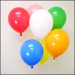 天然ゴム風船 無地カラーヘリウムガス用(300ヶ) ワンタッチバルブ、糸付/ バルーン  [動画有り]|event-ya