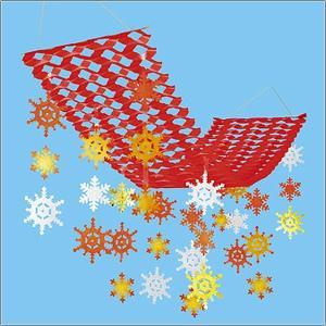 ウインター装飾 ウォームウインタースノープリーツハンガー L150cm / 冬 雪 ディスプレイ 飾り|event-ya