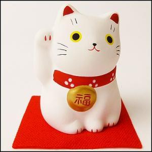 福おいで招き猫 白|event-ya
