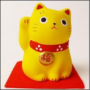 福おいで招き猫 黄|event-ya