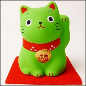 福おいで招き猫 緑|event-ya