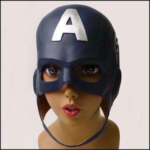 ラテックスかぶりもの キャプテン・アメリカ  / アニメ・マンガ・映画・ヒーローマスク・かつらで、キャラクターになろう|event-ya