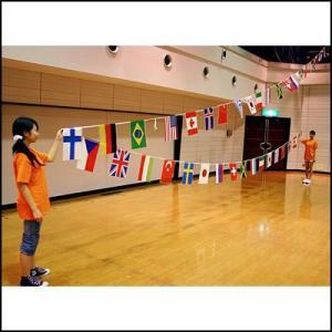 ポリ万国旗(20カ国−11m)|event-ya