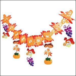 秋の装飾 秋の味覚ガーランド L180cm|event-ya