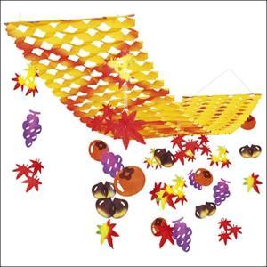 秋の味覚装飾 バリュープリーツハンガー L150cm|event-ya