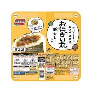 【送料無料】味の素「おにぎり丸」豚カレー80g×8袋(1ケース) 【冷凍】