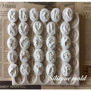 シリコンモールド 天使 アルファベット コイン レジン アロマストーン 手作り 石鹸 キャンドル 樹脂 粘土 オルゴナイト 型 抜き型