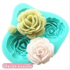 薔薇 バラ シリコンモールド  手作り 石鹸  キャンドル  粘土  レジン  シリコン モールド  型 抜き