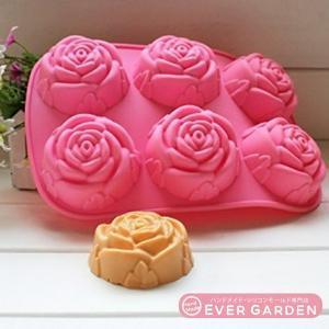 バラ 花 薔薇 シリコンモールド  アロマハイストーン  手作り 石鹸  樹脂 粘土  レジン  シリコン モー