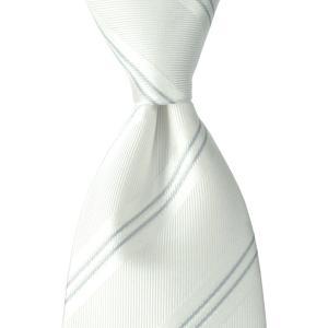 ネクタイ シャドウ ストライプ ソリッド フォーマル シルク 日本製 プレゼント ギフト お誕生日 記念日 結婚式 ホワイト|evergrays