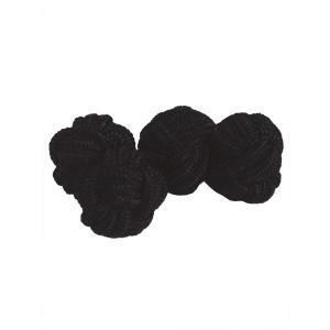 カフス  ボタン クレスト ゴム ソリッド プレゼント ギフト 結婚式 お誕生日 記念日 ブラック|evergrays