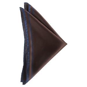 ポケット チーフ ソリッド パネル プリント シルク 日本製 プレゼント ギフト お誕生日 記念日 結婚式 ブラウン|evergrays