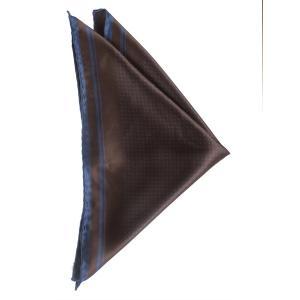 ポケット チーフ ドット パネル プリント シルク 日本製 プレゼント ギフト お誕生日 記念日 結婚式 ブラウン|evergrays