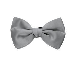 FRANCO BASSI フランコ バッシ ボウ タイ ソリッド シルク ITALY製 プレゼント ギフト 結婚式 お誕生日 記念日 シルバー グレー|evergrays