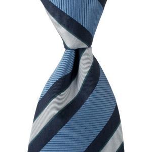 FRANCO BASSI フランコ バッシ ネクタイ ストライプ シルク ITALY製 プレゼント ギフト お誕生日 記念日 結婚式 ブルー|evergrays