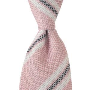 LUIGI BORRELLI ルイジ ボレッリ ネクタイ ストライプ シルク ITALY製 プレゼント ギフト お誕生日 記念日 結婚式 ピンク|evergrays