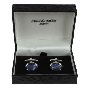 カフス ボタン ELIZABETH PARKER エリザベス パーカー カフ リンクス プレゼント ギフト 結婚式 お誕生日 記念日 ソーダライト|evergrays