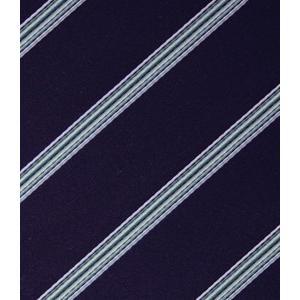ネクタイ オーダー メイド ストライプ ネイビー ブルー|evergrays