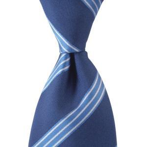 ネクタイ オーダー メイド ストライプ ダーク ブルー|evergrays
