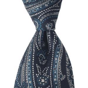 PERSONALITY パーソナリティ ネクタイ ペイズリー 花柄 シルク ITALY製 プレゼント ギフト お誕生日 記念日 結婚式 ブルー|evergrays