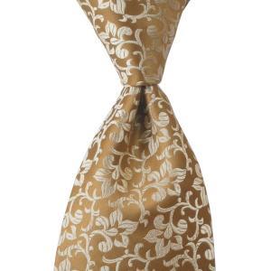 PENROSE ペンローズ(London) ネクタイ クレスト シルク ITALY製 プレゼント ギフト お誕生日 記念日 結婚式 ゴールドベージュ|evergrays
