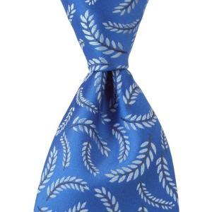 PENROSE ペンローズ(London) ネクタイ クレスト シルク ITALY製 プレゼント ギフト 父の日 結婚式 ブルー|evergrays