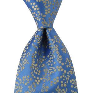 PENROSE ペンローズ(London) ネクタイ クレスト シルク ITALY製 プレゼント ギフト お誕生日 記念日 結婚式 ブルー|evergrays