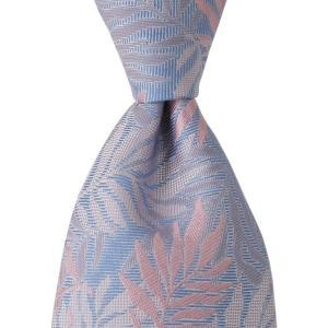 PENROSE ペンローズ(London) ネクタイ オーナメント調 シルク ITALY製 プレゼント ギフト 結婚式 父の日 ブルー|evergrays