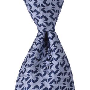 PENROSE ペンローズ(London) ネクタイ ジャガードストライプ シルク ITALY製 プレゼント ギフト 結婚式 ブルー|evergrays