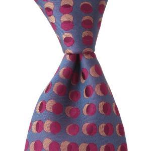 PENROSE ペンローズ(London) ネクタイ ドットアレンジ シルク ITALY製 プレゼント ギフト お誕生日 記念日 結婚式 ブルー|evergrays