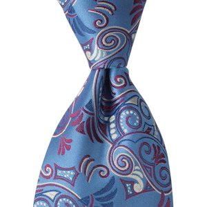 PENROSE ペンローズ(London) ネクタイ ペイズリー シルク ITALY製 プレゼント ギフト お誕生日 記念日 結婚式 ブルー|evergrays